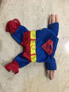 Dog superman hero Costumes/ clothes