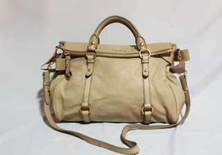 Authentic MIU MIU Bow Leather 2-way Bag