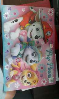 Paw patrol rubber table mat