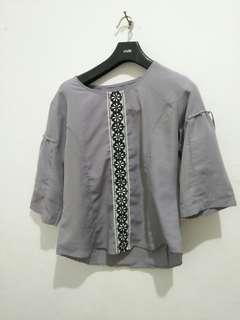 Baju 3/4 grey