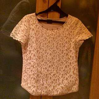 Dot dtails Lace Top