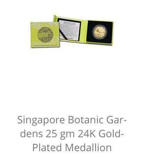 🚚 Botanic Garden Gold Plated Coin
