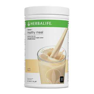 Herbalife F1 Nutritional Shake Mix French Vanilla Canister 550g
