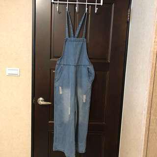 🚚 牛仔大寬褲