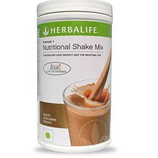 Herbalife F1 Nutritional Shake Mix Dutch Choco Canister 550g