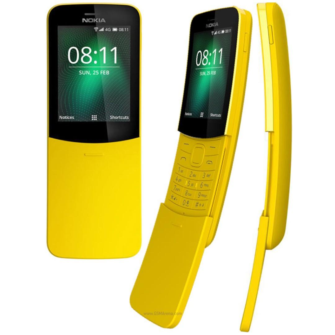 4g Brand New Sealed In Box Nokia Dual Sim 8110 4g Yellow Banana
