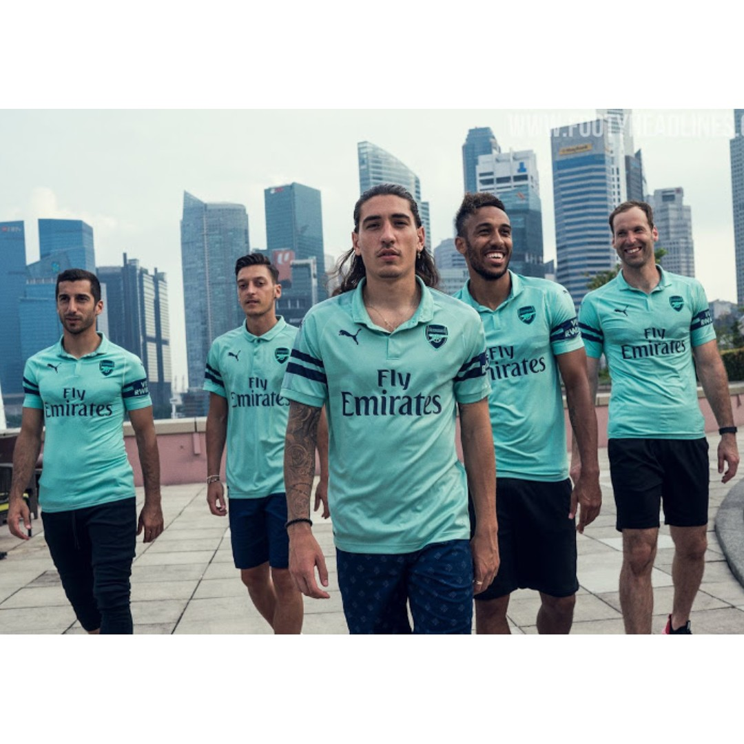 6875defa266 Arsenal 18/19 3rd Kit (Launched first in SG!), Sports, Sports ...
