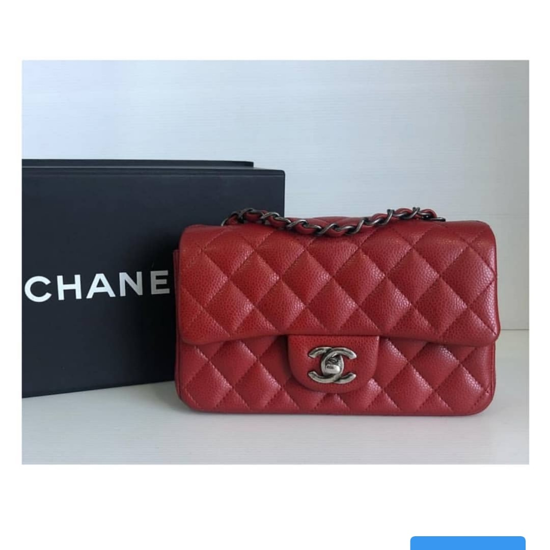 97e08a2733fc Authentic Chanel Classic Mini Rectangle Flap Bag, Luxury, Bags & Wallets on  Carousell