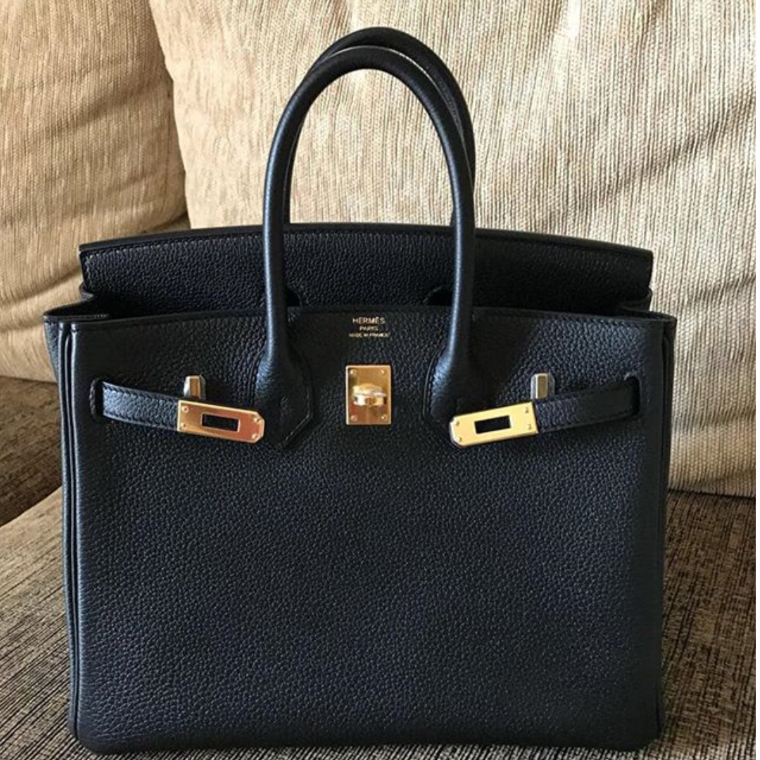 Authentic Hermes Birkin 25 black togo ghw stamp C 22c28788a157e