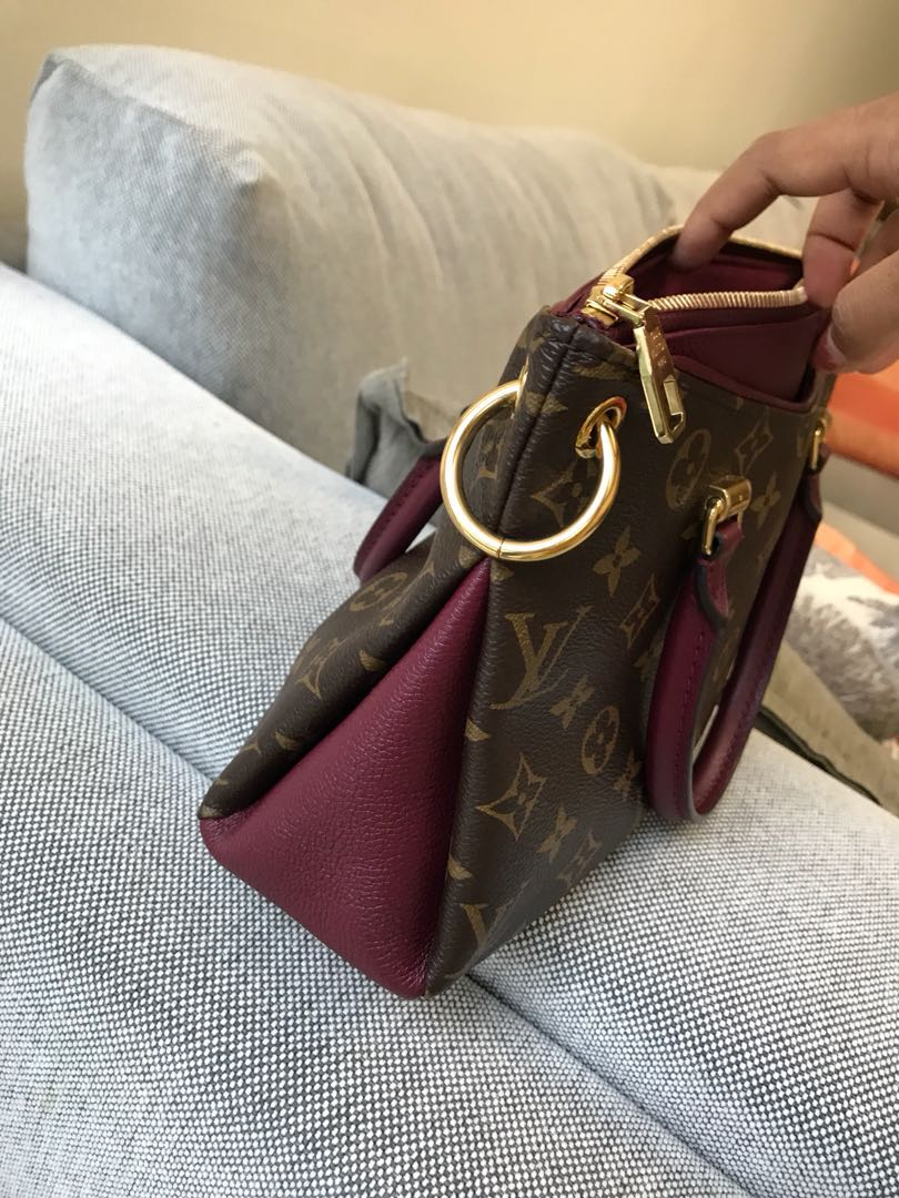 cfddf1dcb2ea Authentic Louis Vuitton Pallas BB Raisin