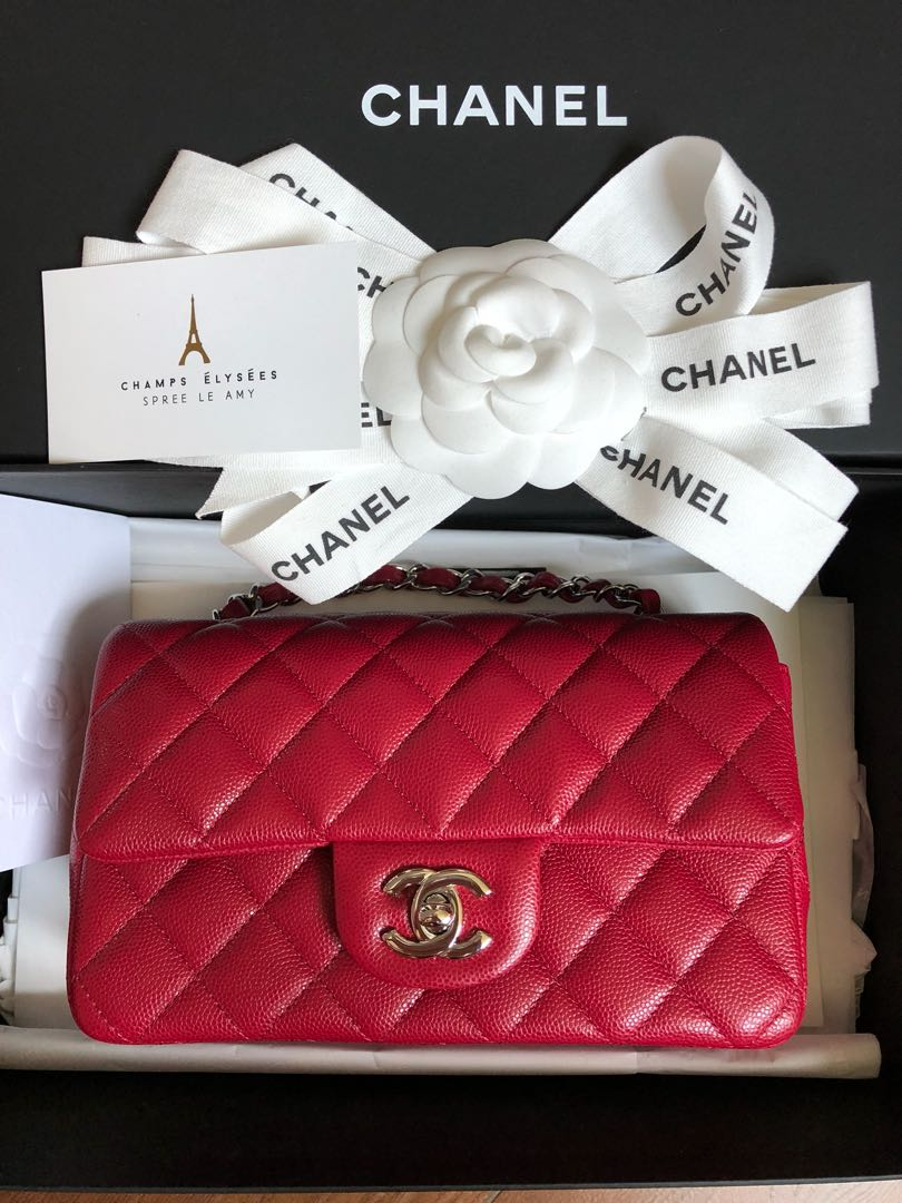 b1beba61f3d4 Bn Chanel mini rectangle, Luxury, Bags & Wallets, Handbags on Carousell