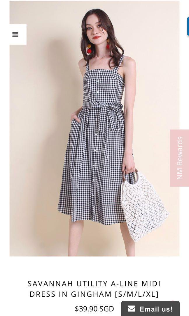 Gingham a Line Dresses