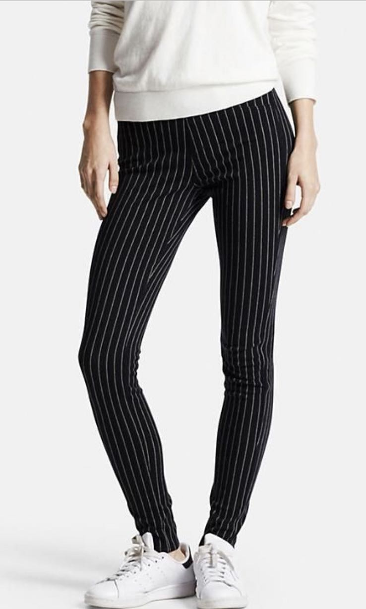 e355c047fa36d BN XL UNIQLO STRIPED JEGGINGS, Women's Fashion, Clothes, Pants, Jeans &  Shorts on Carousell