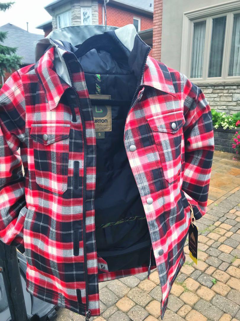 BRAND NEW Burton Boys' Uproar Jacket Process Red Miked Plaid