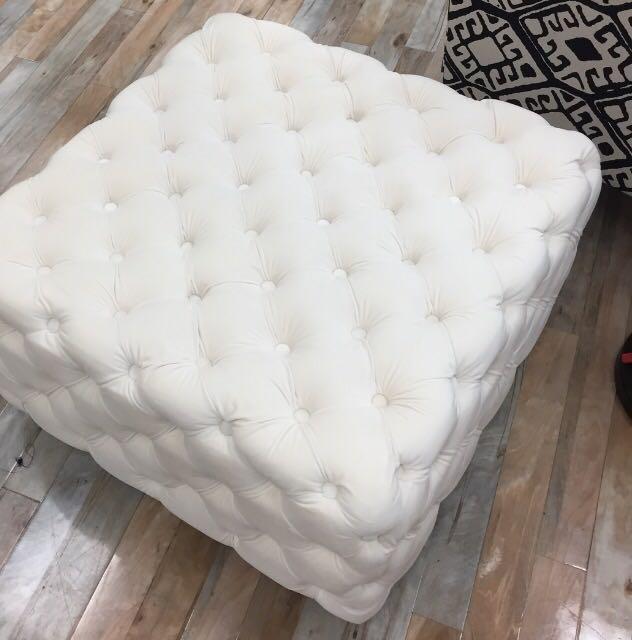 Brand new VELVET White ottoman/coffee table