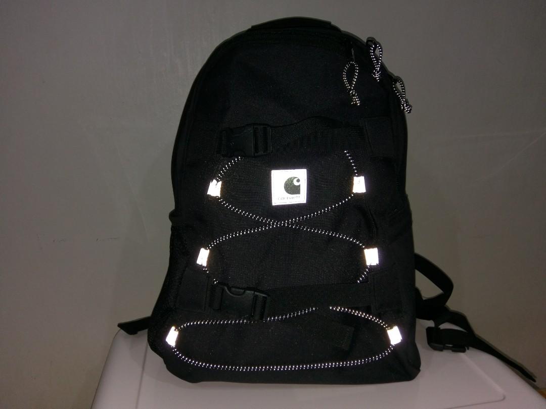 Carhartt w.i.p black kickflip backpack (reflective design)
