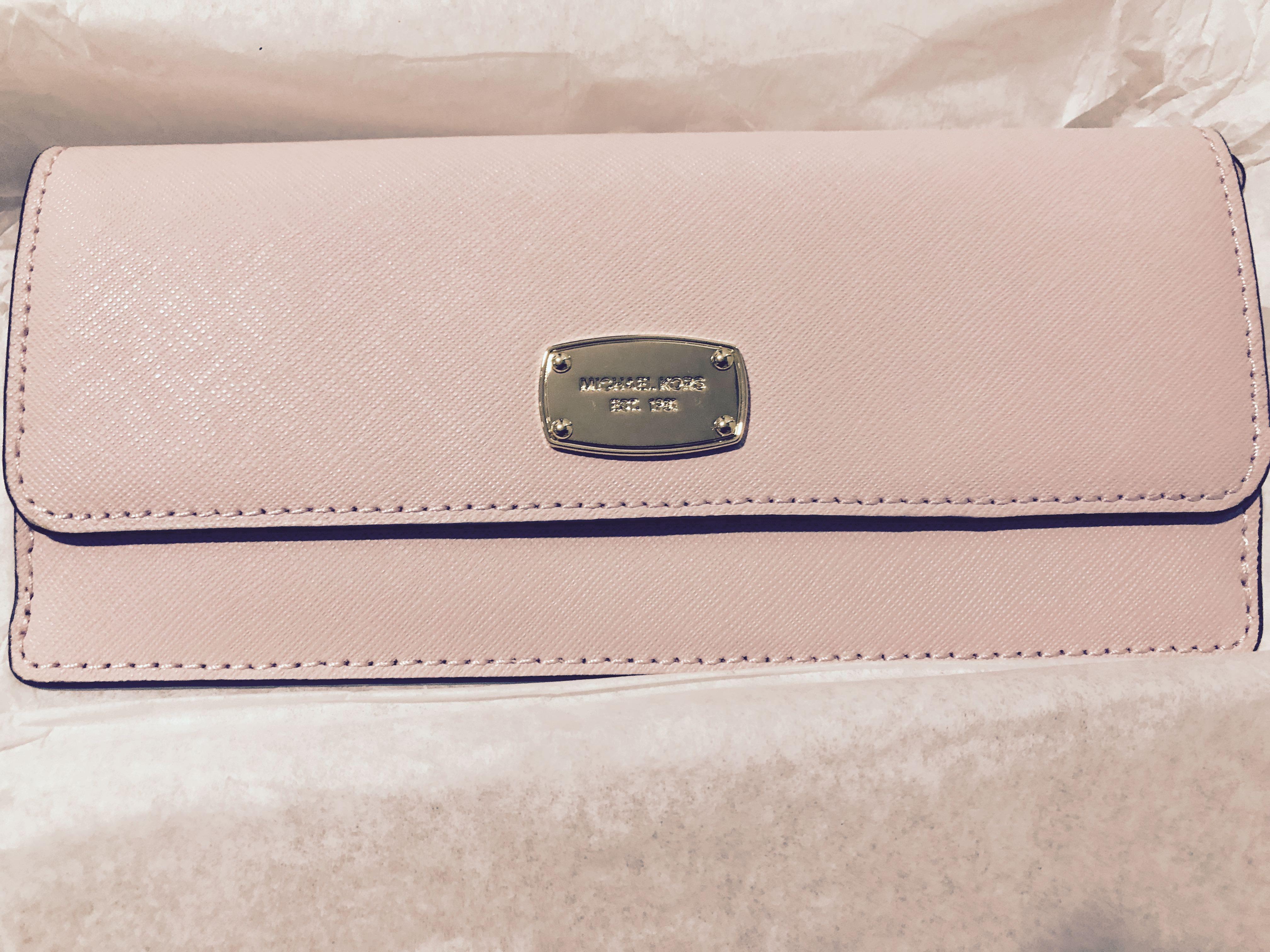 c585fa484028 Classy Champagne Pink MK wallet, Women's Fashion, Bags & Wallets ...