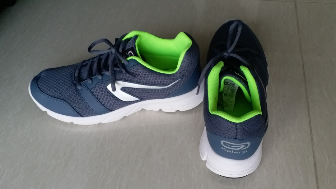 online store a202b 55618 Decathlon Kalenji running sport shoe Grey/yellow color, Men's Fashion,  Footwear, Sneakers on Carousell