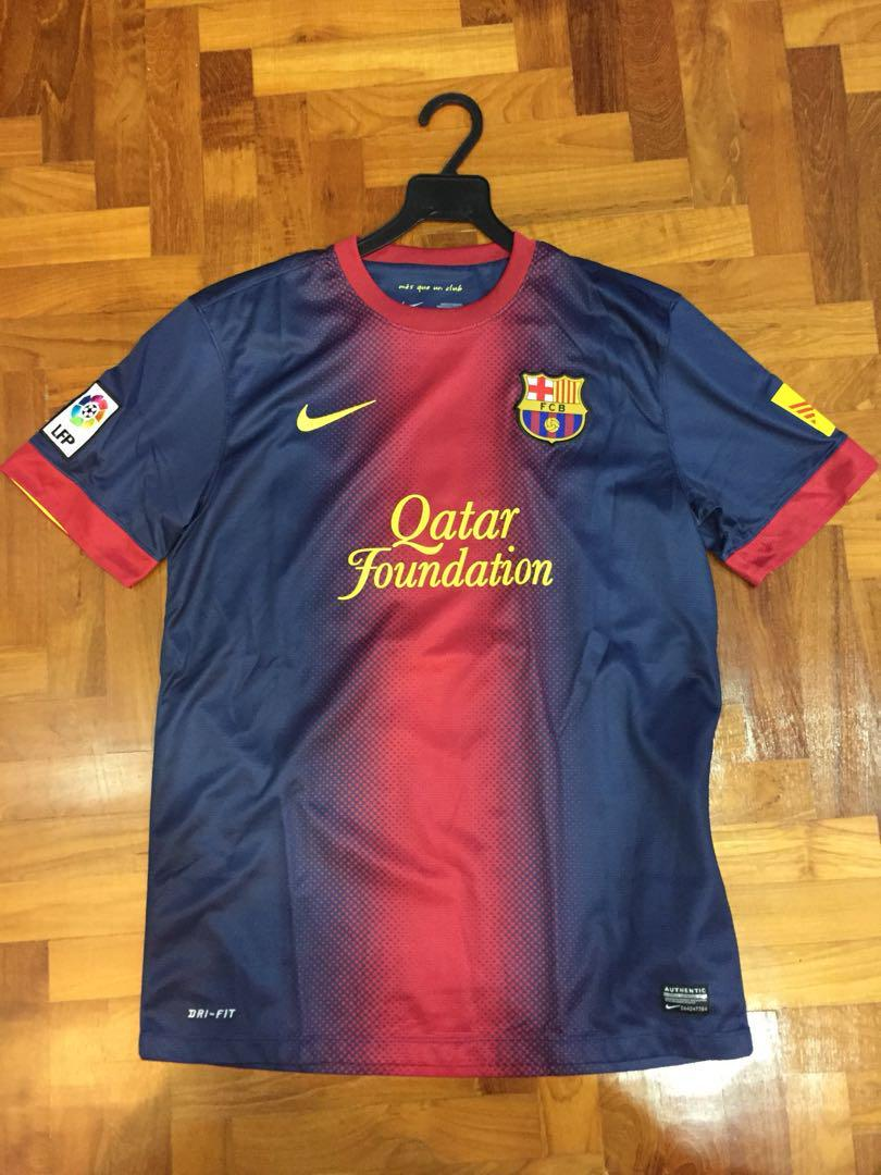 finest selection 7919f c7c3d FC Barcelona 12/13 Authentic Jersey, Sports, Sports Apparel ...