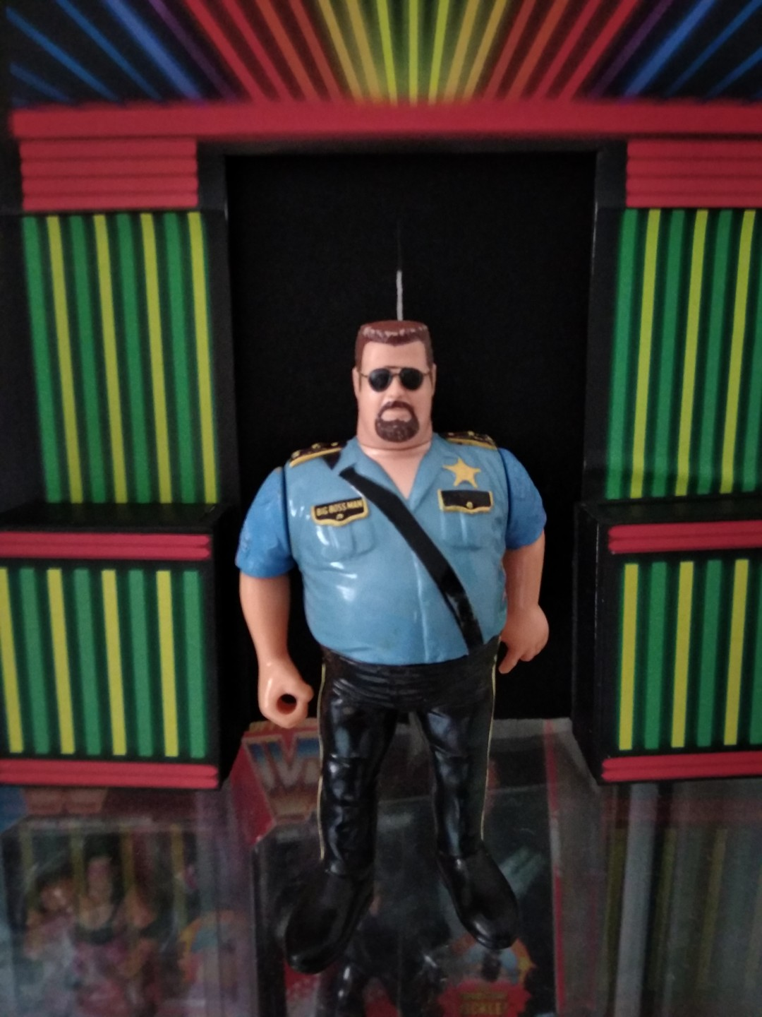 Hasbro Wwf Figures Big Boss Man With Shade Toys Games