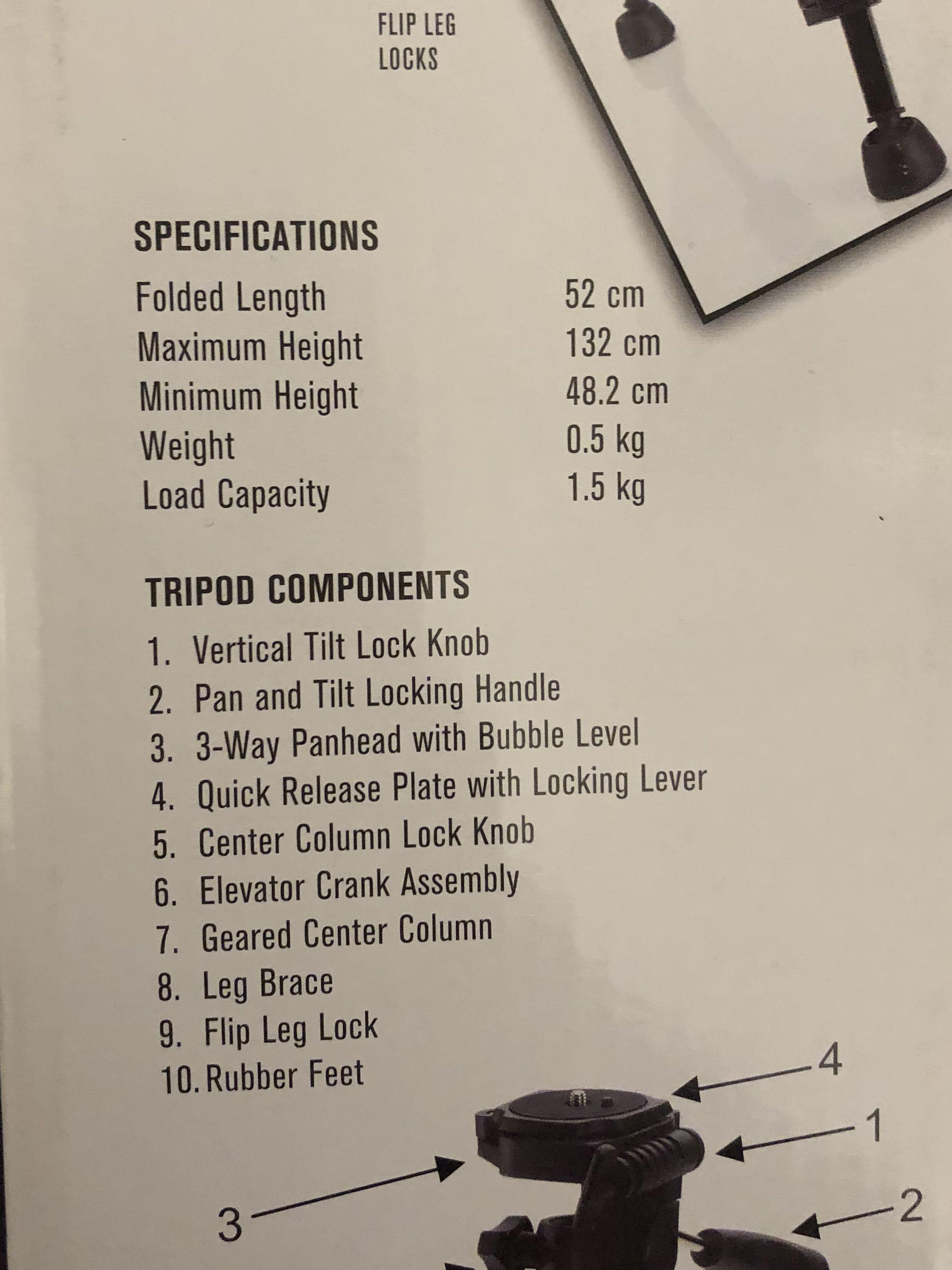 Light Weight Tripod (NOT FOR DSLR CAMERAS)