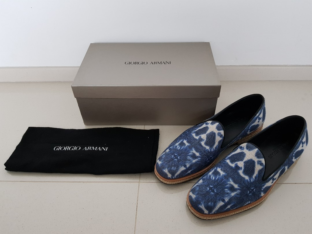 014ba2ab8760 Made In Italy Giorgio Armani shoes loafers size 10 or 44. 100 ...