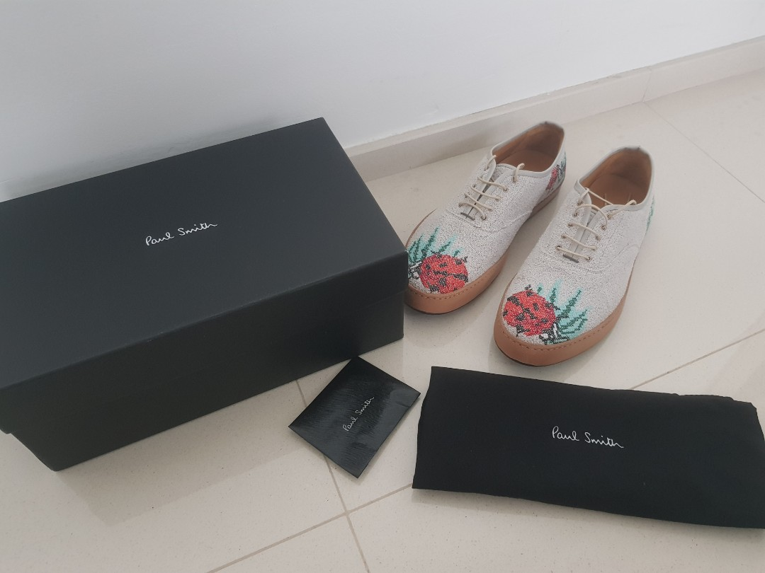501edd34b0aa Made In Italy Paul Smith fabric leather shoes size 9 or 43. Brand ...