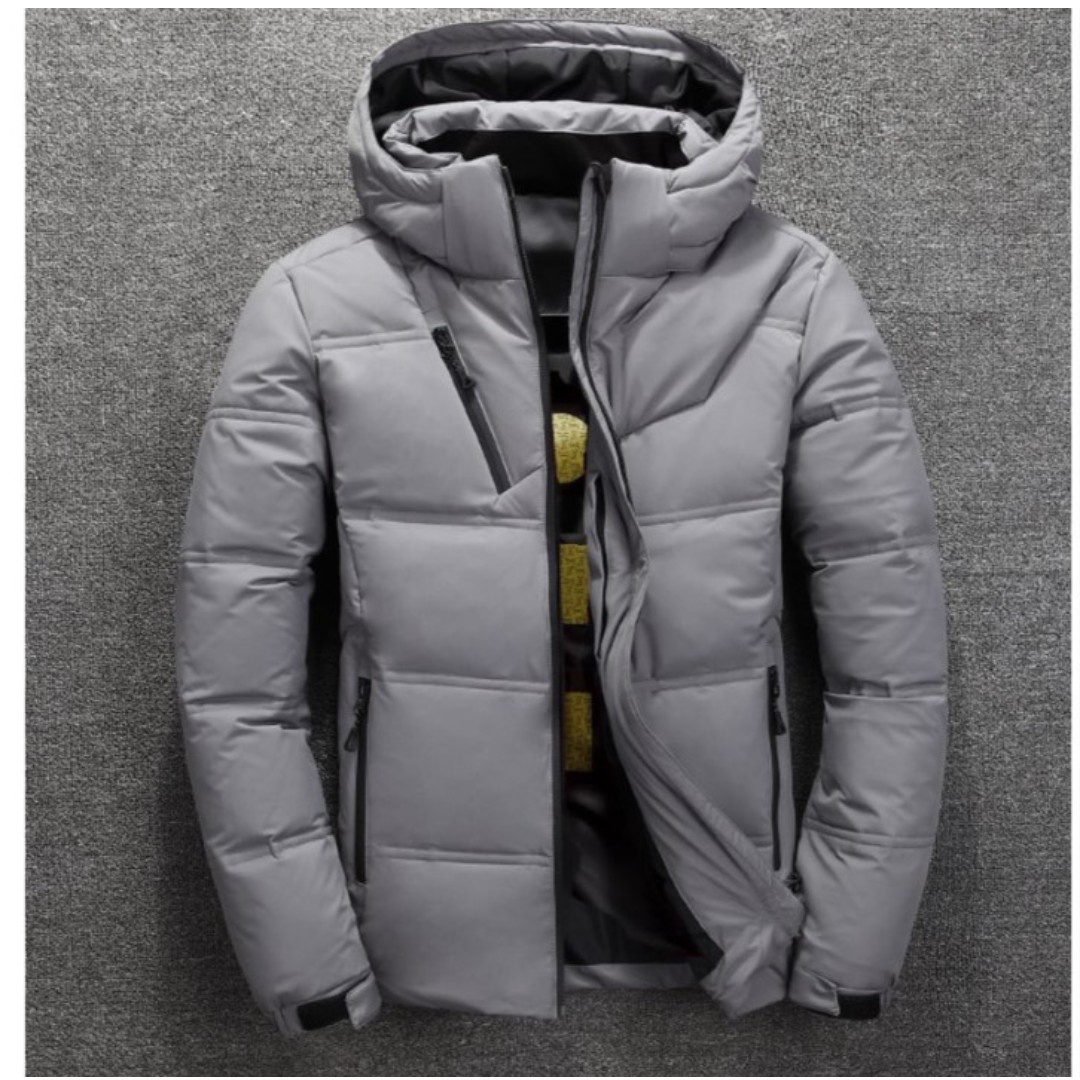 799affef2a2 Men - Hooded Down Feathers Winter Jacket M209