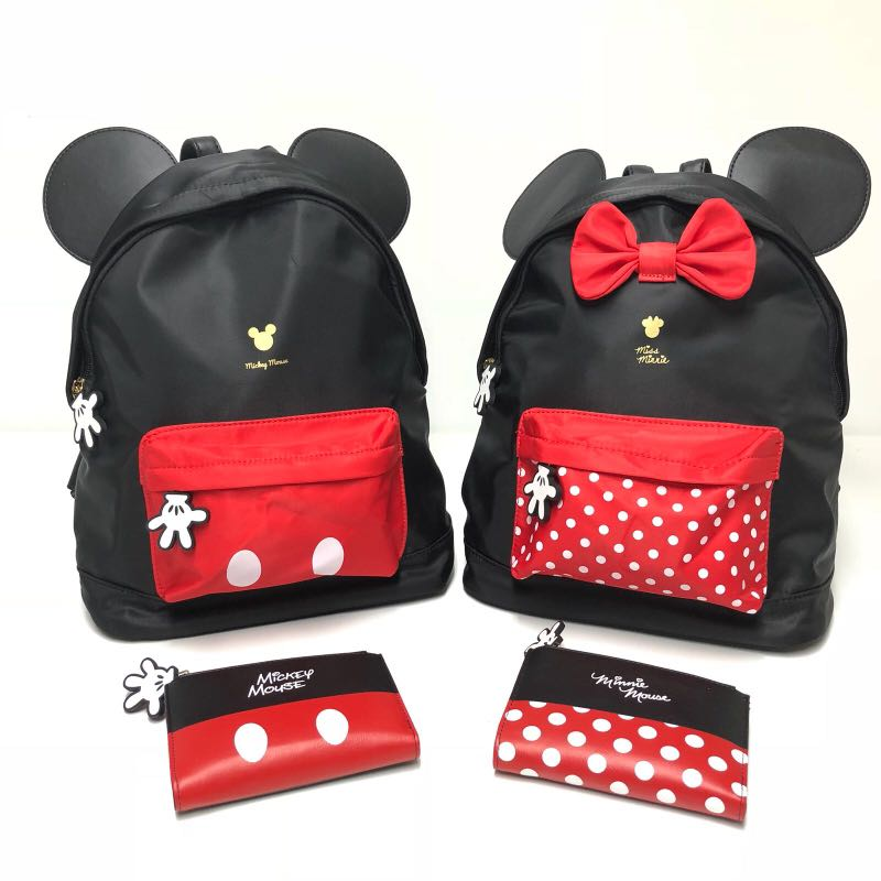 04c1a3541 Mickey Mouse/Minnie Mouse backpack, Women's Fashion, Bags & Wallets ...