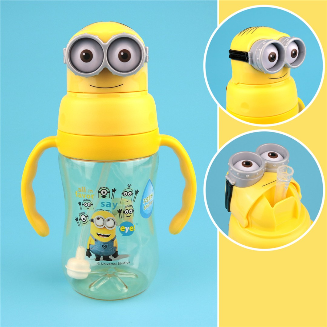 29f5d1db20 Minions Kids Water Bottle Learning Cup With Straw BPA-Free 350ml, Babies &  Kids, Nursing & Feeding on Carousell
