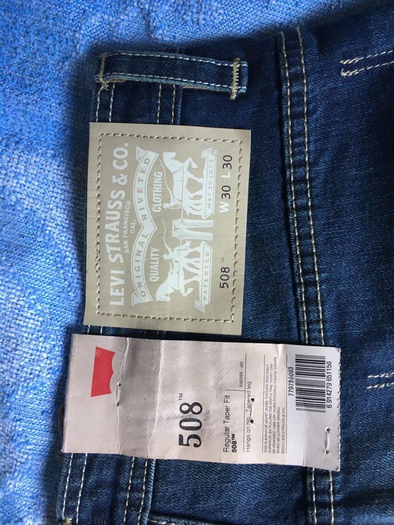 9ef97acede8 New Levi's 508 Regular Taper fit size 30, Men's Fashion, Clothes ...