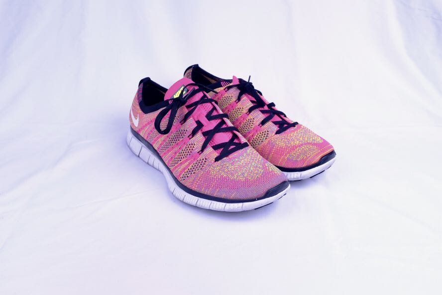 e530477b6e ... spain nike free flyknit nsw flash pink mens fashion footwear sneakers  on carousell 8727f 04544