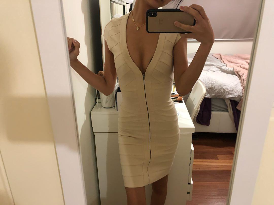 Nude bandage dress