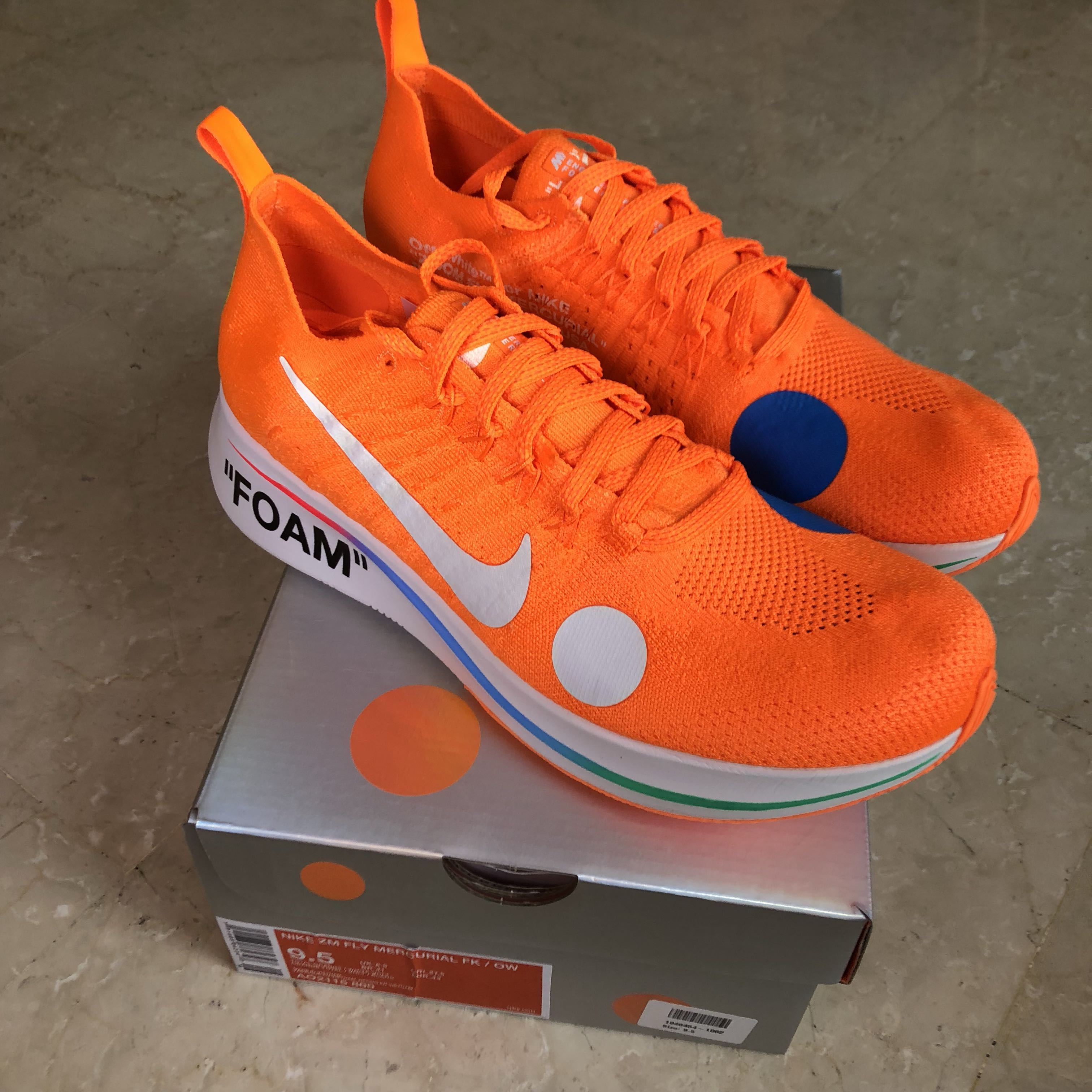 0eeba22ca53404 Off White Nike Zoomfly Mercurial Orange (UK8.5