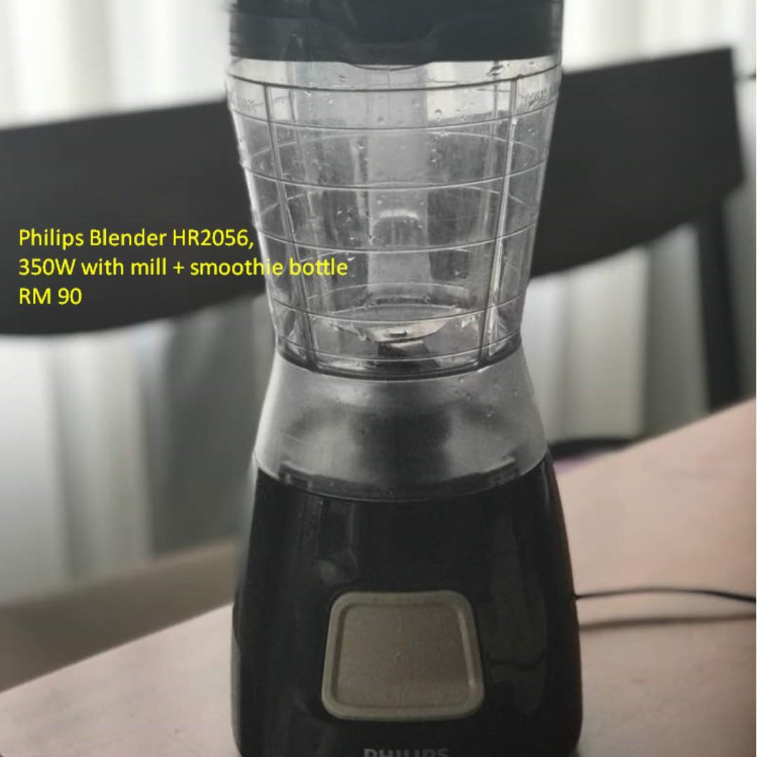 Philips Blender Hr2056 Daftar Update Harga Terbaru Dan Terlengkap Hr 2057 03 White Green Plastik Jug 280 W 350w With Mill Smoothie Bottle Peralatan Dapur Di Carousell