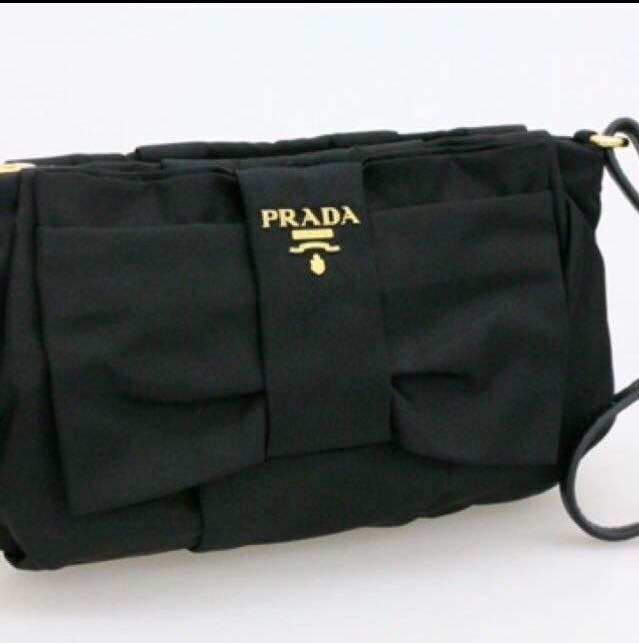 9e436a01762264 Prada Ribbon Wristlet, Luxury, Bags & Wallets, Clutches on Carousell