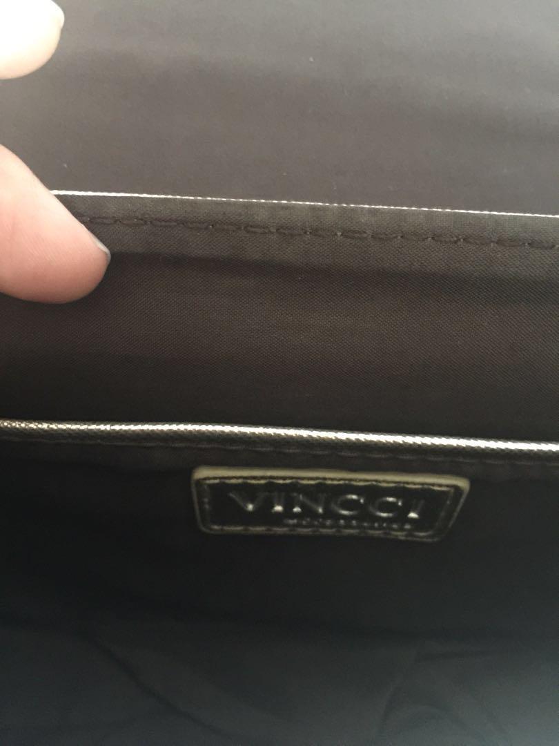 Pre-loved Authentic Vincci Gold Sling Bag