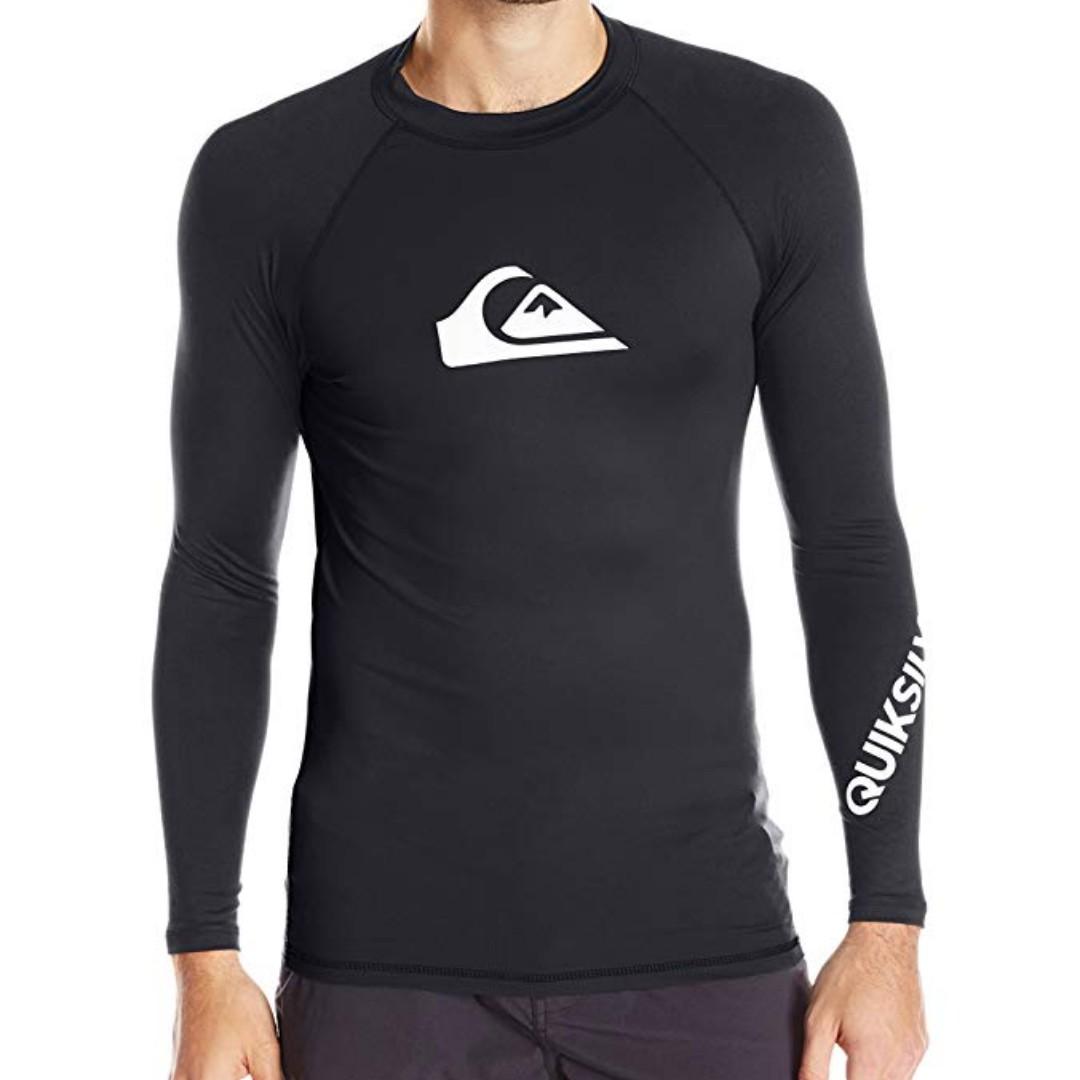 200296d6e723f Quiksilver Long Sleeve Rashguard Swim Shirt UPF 50+, Men's Fashion ...