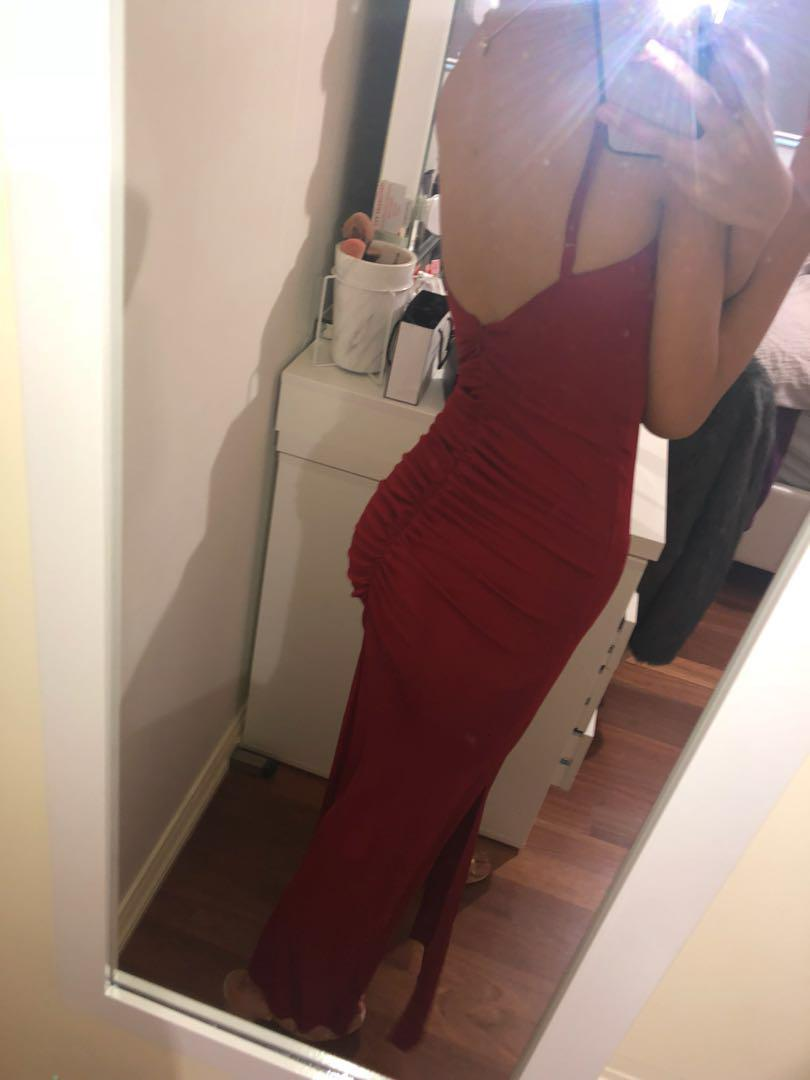 Red tight dress/gown