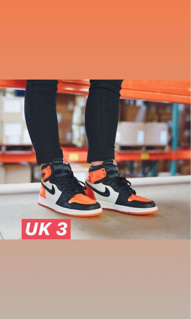 2869533ca9a Satin Shattered Backboard, Women's Fashion, Shoes, Sneakers on Carousell