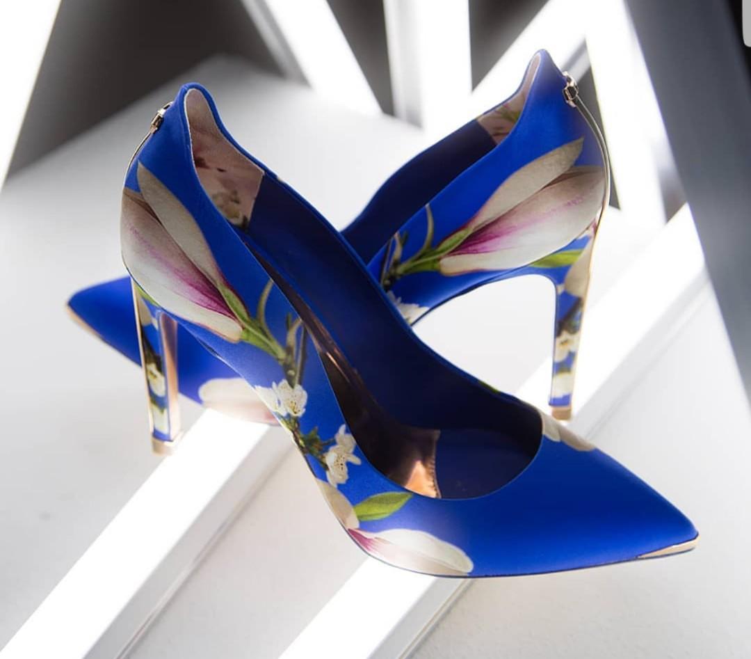 Ted Baker Bright Blue Floral Heels