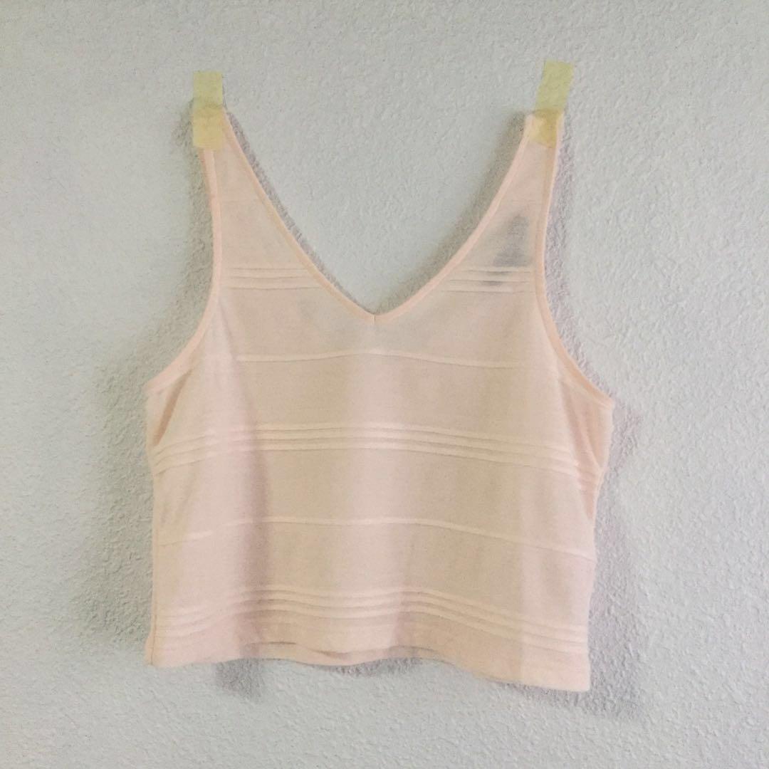 c878d0261576a Topshop Petite Crop Top in Pastel Pink
