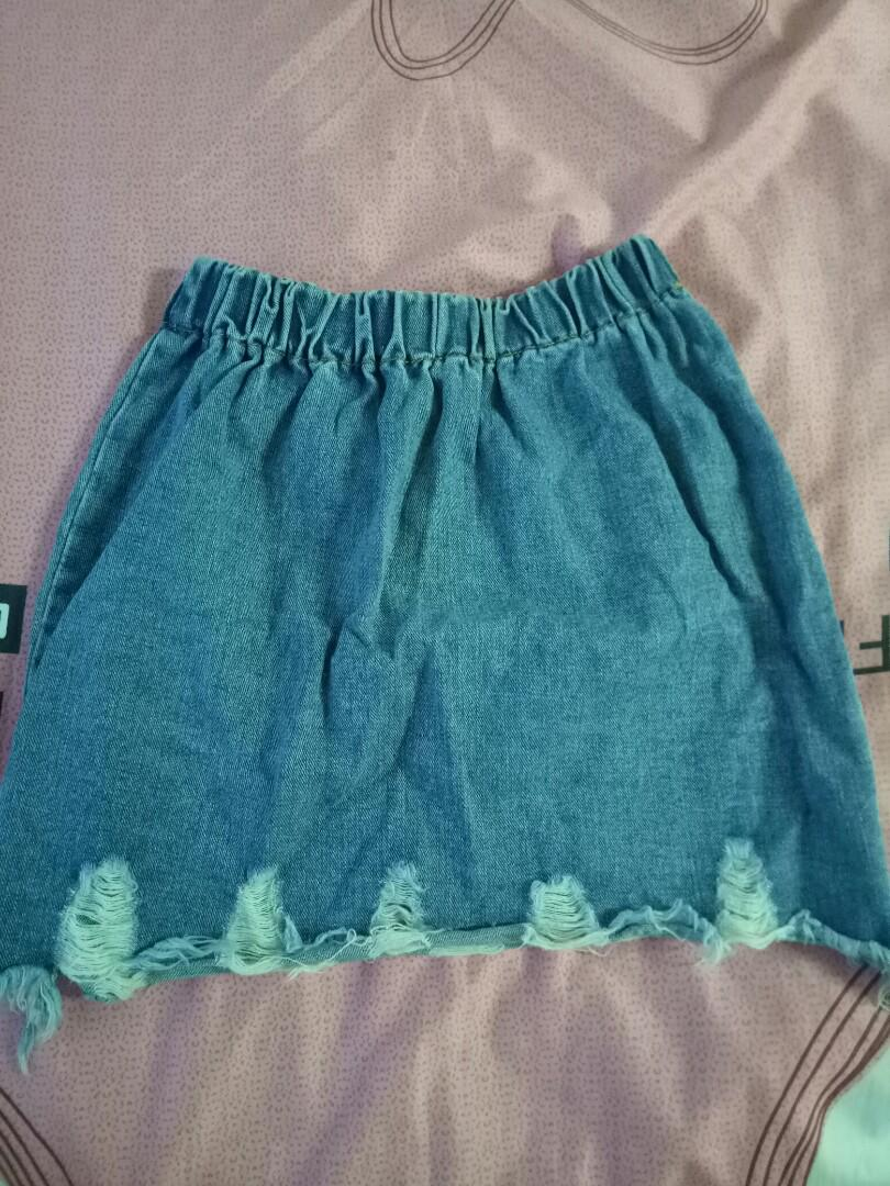 Ulzzang ripped skirt