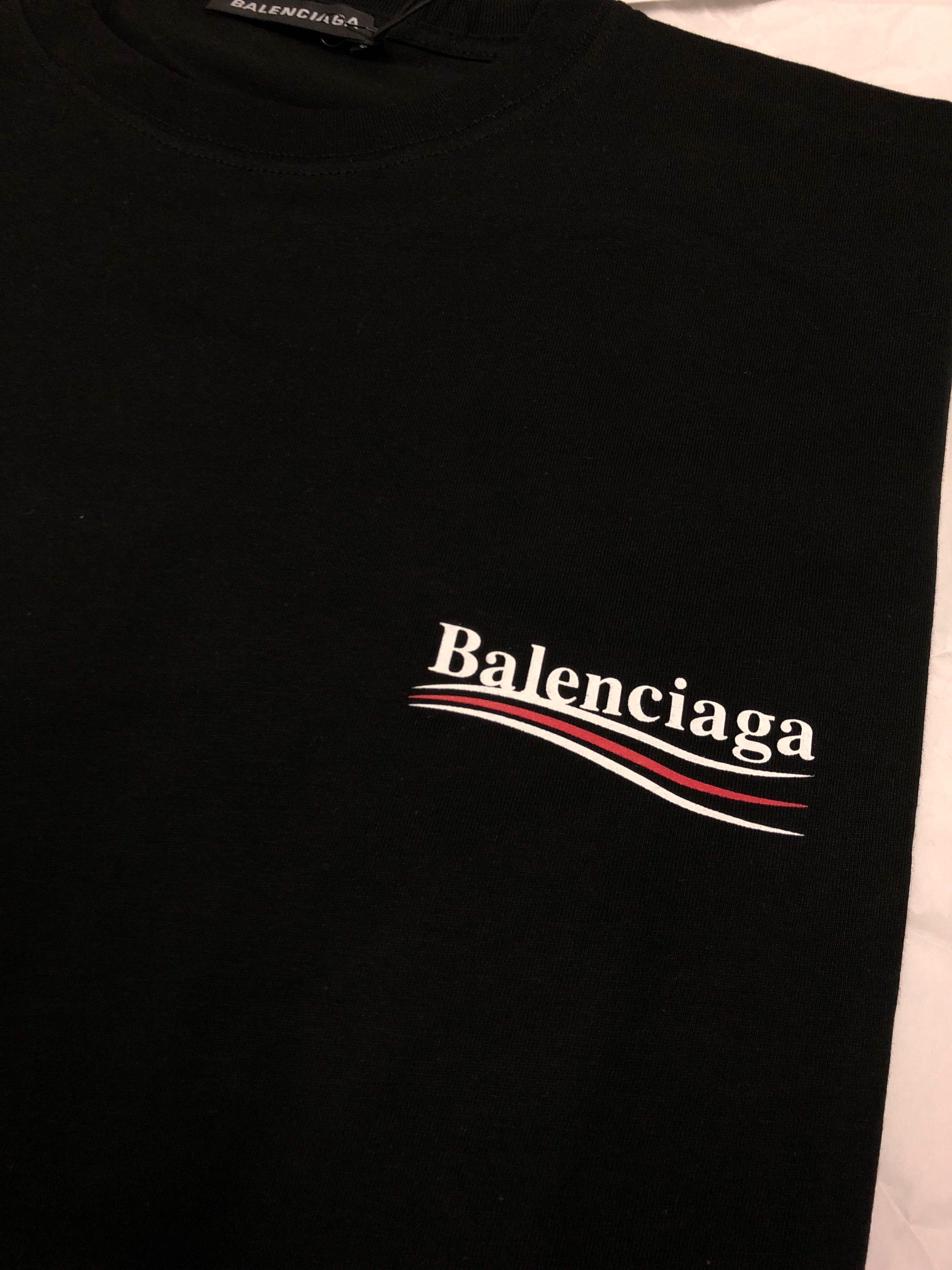 2ff57cf3e WTS BALENCIAGA BERNIE SANDERS BLACK TEE SIZE M, Men's Fashion, Clothes,  Tops on Carousell