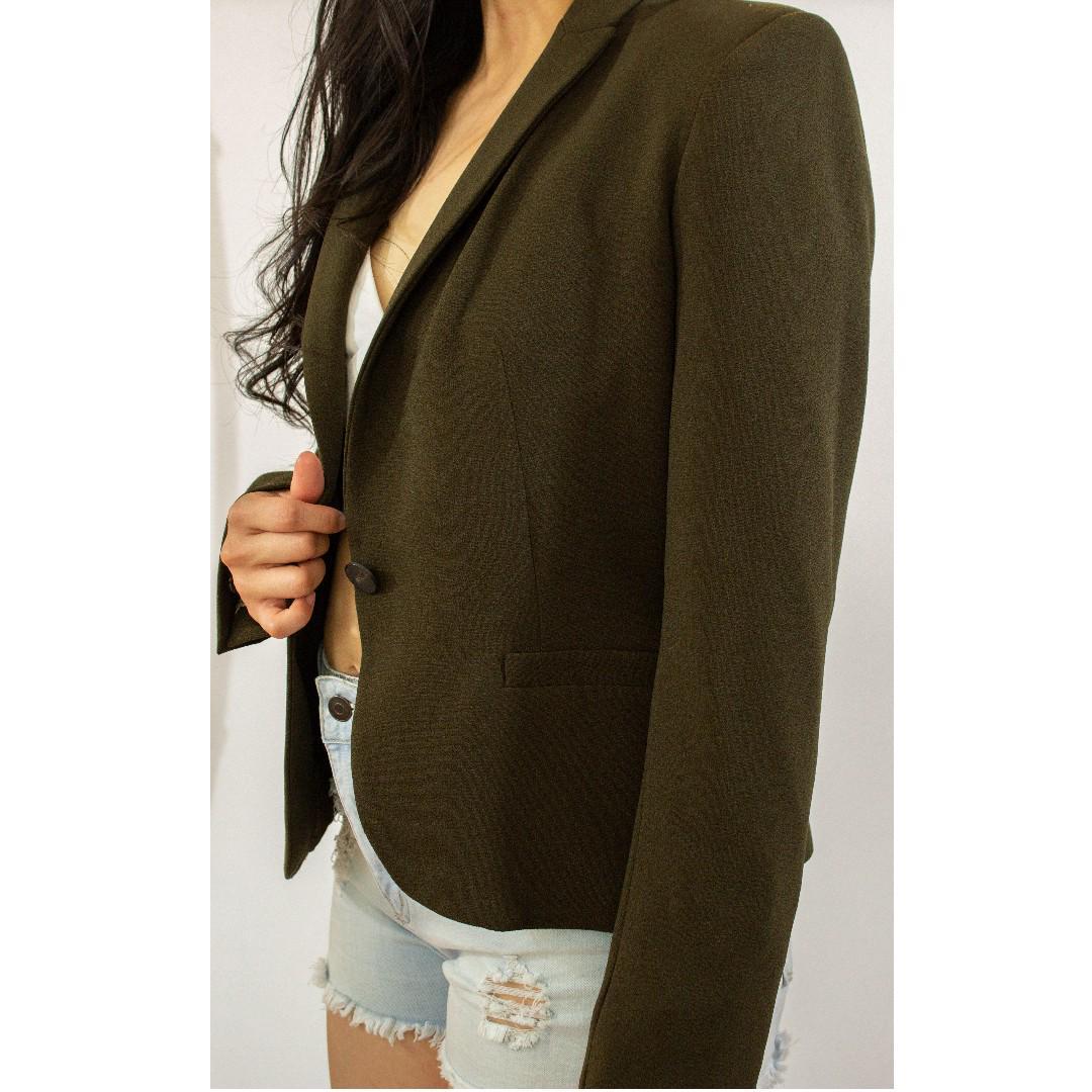 Zara - Olive Green Blazer