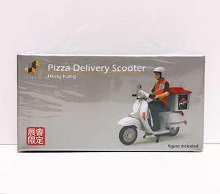 全新未拆 Tiny 微影 展會限定 Pizza 薄餅 外賣 速遞 電單車