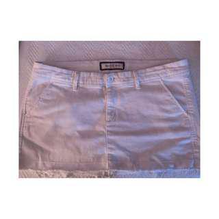 White Jean Abercrombie Skirt