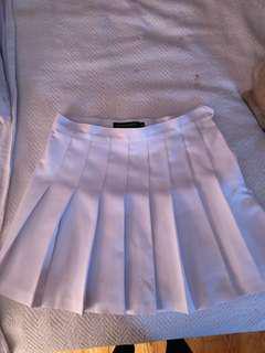 White American Apparel Gabardine Tennis Skirt