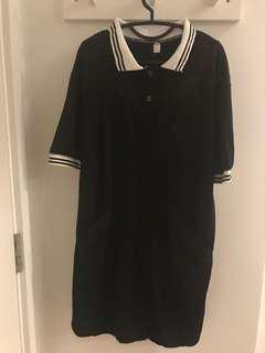 🚚 Black t shirt dress with back cut off