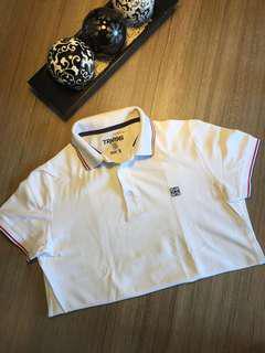 White sports shirt